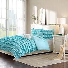 Intelligent Design ID10-022 Waterfall Comforter Set, Full/Queen, Blue