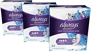 Sponsored Ad - Always Discreet Incontinence & Postpartum Incontinence Pads for Women, 162 Count, Moderate Absorbency, Long...