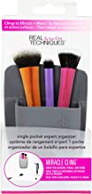 Real Techniques Single Pocket Expert Organizer, Grey, Easily Mounts to Mirror, Wall, Dresser, or Tile, Holds Makeup, Makeup.