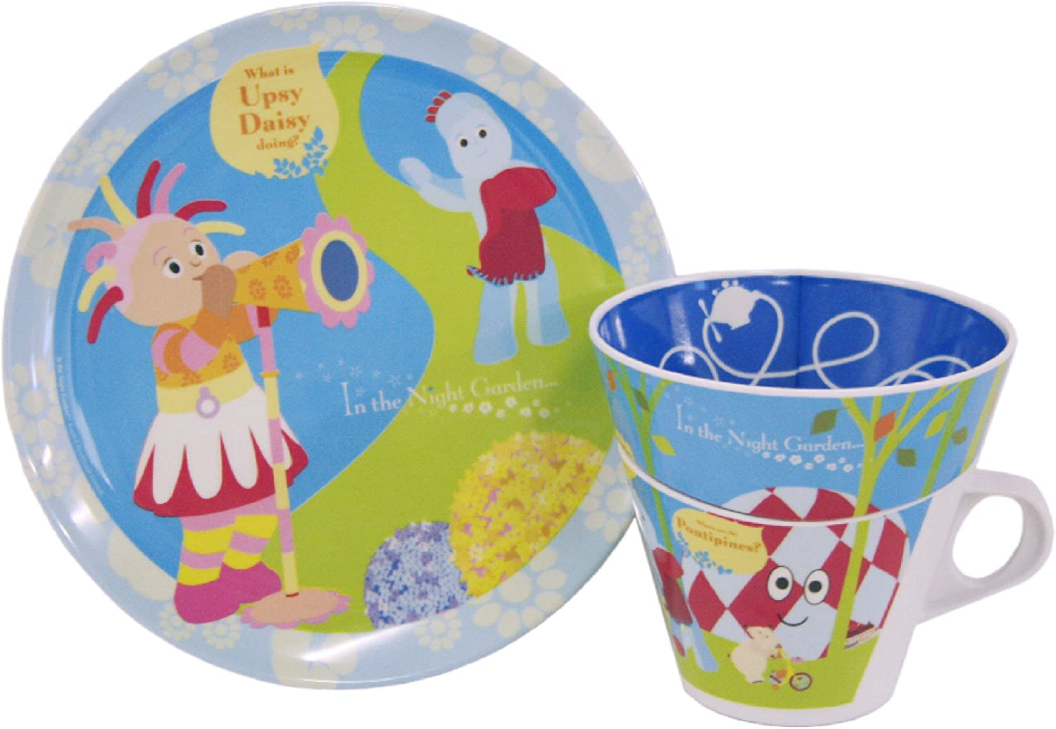 in the Night Garden Iggle Piggle Upsy Daisy Makka Pakka Nested Gift Set Stack Able Plate Bowl and Cup