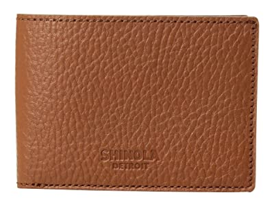 Shinola Detroit Super Slim Bifold Luxe Grain (Deep Brown) Bi-fold Wallet