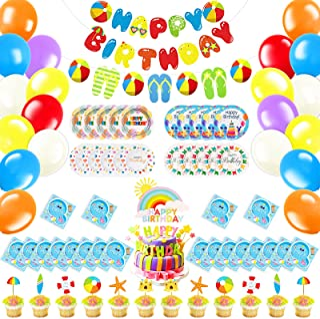 Details about  /1 ag Dekoration data-mtsrclang=en-US href=# onclick=return false; show original title Birthday Girl Party Decoration Set Pink Vichy Karo Children Birthday Decoration