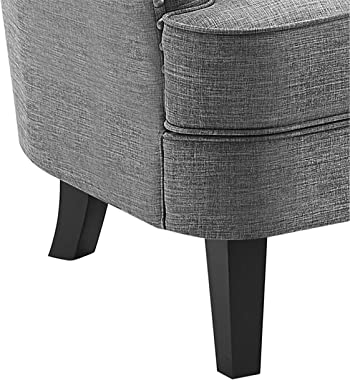 Rosevera Collection Fabric Nailhead Home Gustavo, Grey with Ottoman
