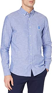 BOSS Mens Mabsoot 1 Slim-fit Shirt in Oxford Cotton with a Garment-wash Finish
