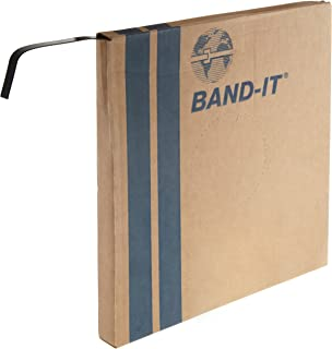 BAND-IT Coated Band, AE4339, 316 Stainless Steel, 3/8 Wide x 0.045 Thick with PPA571 Coating, (82.5 Foot Roll)