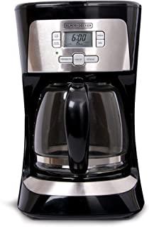 Black+Decker - Cafetera programable (12 tazas), color negro