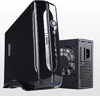 Hiditec Torre Pc SLM10 (Micro ATX, USB 2.0, USB 3.0, Estructura Acero, 2 conectores SATA, 2 conectores MOLEX, incluye fuente de 450W y Ventilador de 80mm) negro