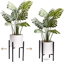 """VIVIHOME Plant Stand Indoor Adjustable Metal Plant Stand with Mid Century Modern Design for Large Plant Pots (10"""" 11"""