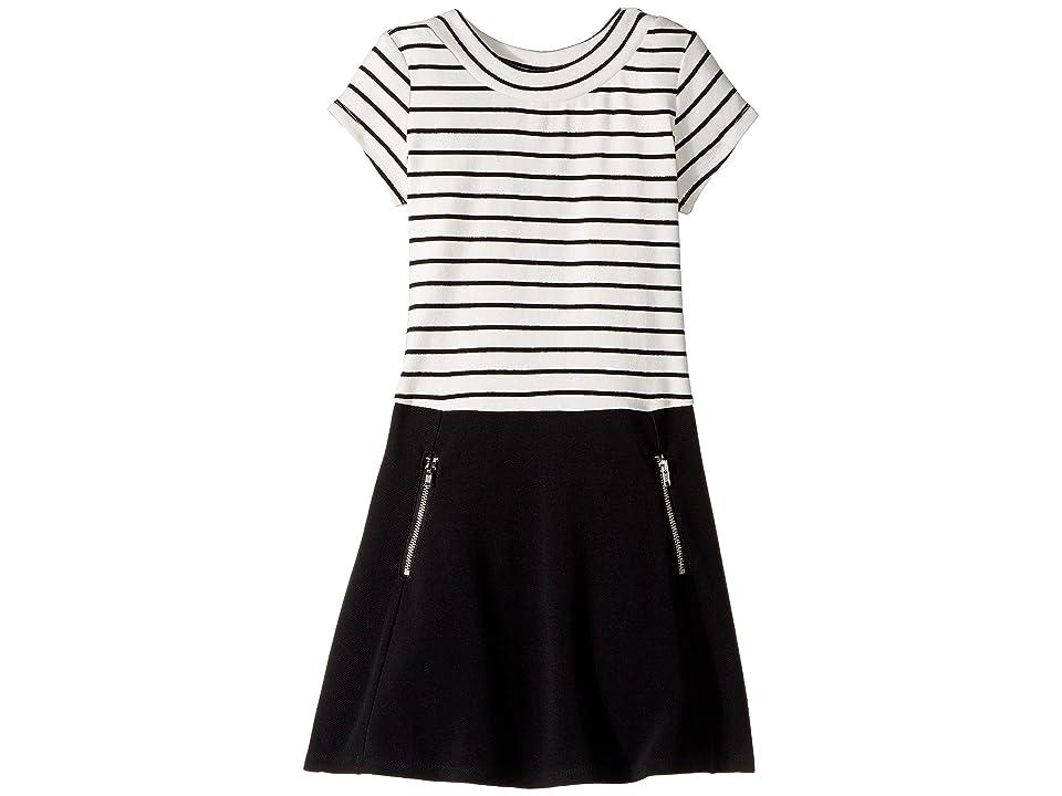 Us Angels Cap Sleeve Scoop Neck Dress (Toddler/Little Kids) (Black) Girl