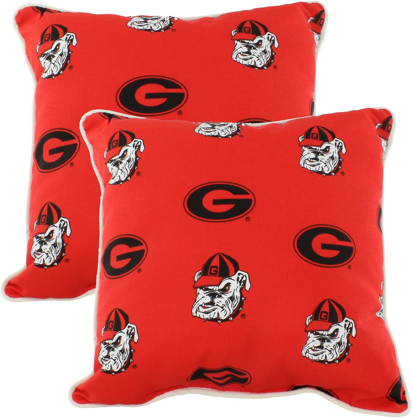 College Covers Georgia Bulldogs Decorative Pillow Max 75% Max 62% OFF OFF Pair- Outdoor