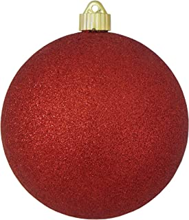 Christmas by Krebs Large Commercial Shatterproof UV Resistant Plastic Christmas Ball Ornament Wedding Party Event Decor, 6
