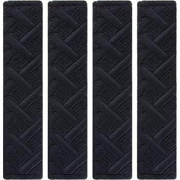 Growment PU Leather Car Seat Belt Cover Shoulder Seat Belt Pad Rhinestones 2 PCS Adults Youth