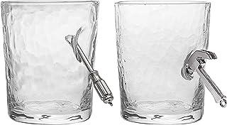 Godinger Old Fashioned Glasses, Hammer Screwdriver Handyman Drinking Glass - Set of 2