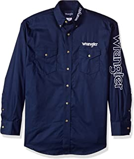 Men's Western Logo Long Sleeve Snap Front Shirt