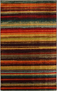 Mohawk Home New Wave Boho Stripe Printed Area Rug, 6 x 9, Multicolor