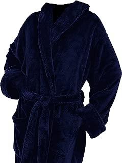 Tri Color Robes Plush Microfiber Navy Blue Full Customizable Monogrammed Bathrobes Her Him