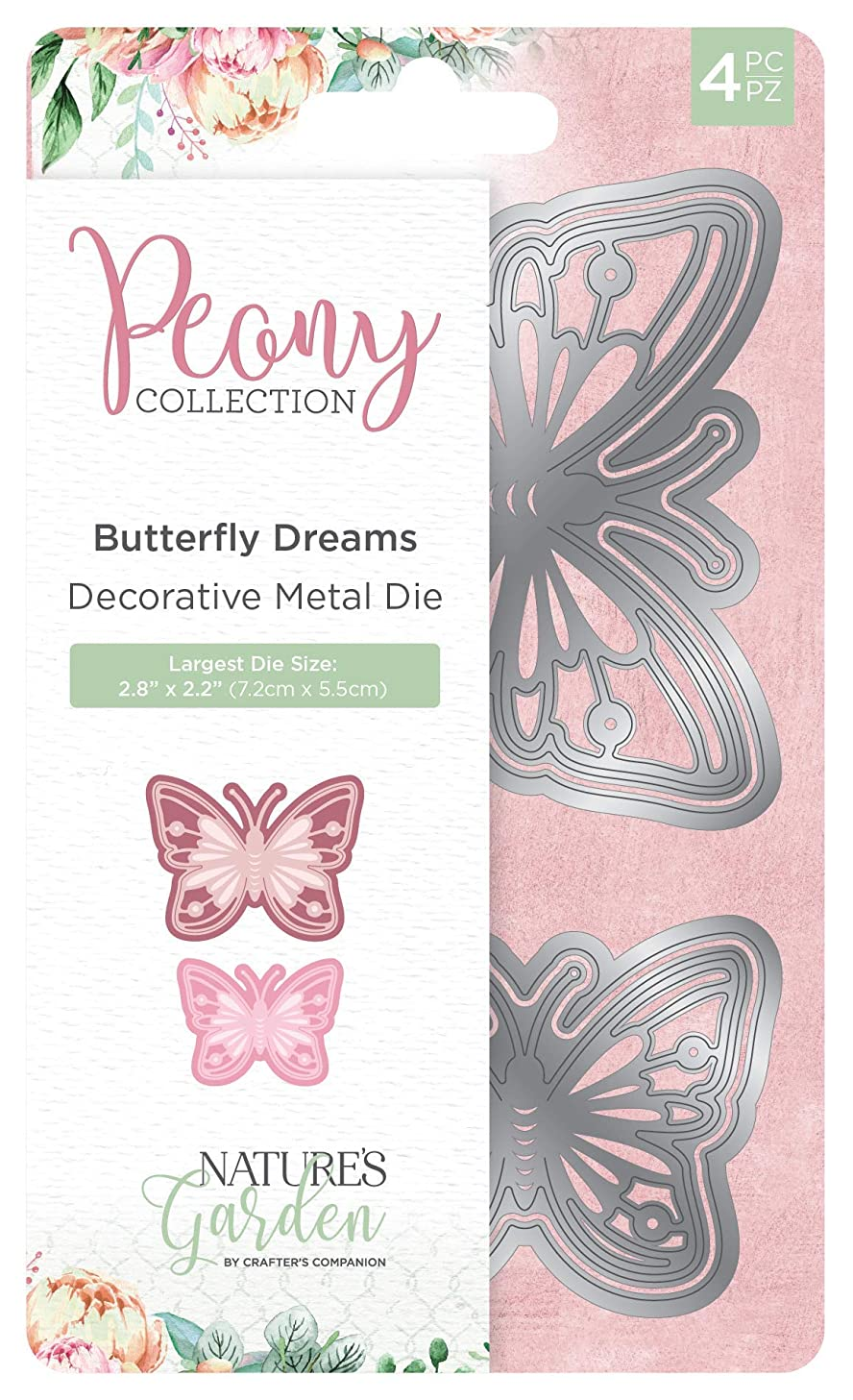 Nature's Garden Peony Collection-Metal Die-Butterfly Dreams, Silver, One Size