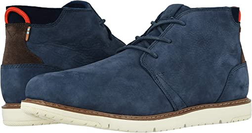 Navy Tumbled Nubuck Leather