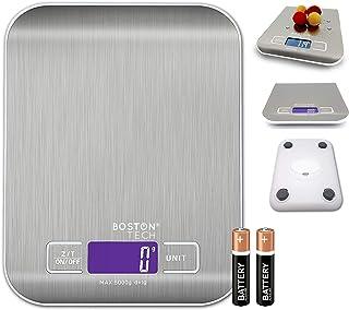 Balance de cuisine numérique Capacité 5 kg / 11 lb, pour fruits, céréales, viande ou liquides, balance à bijoux, écran LCD...