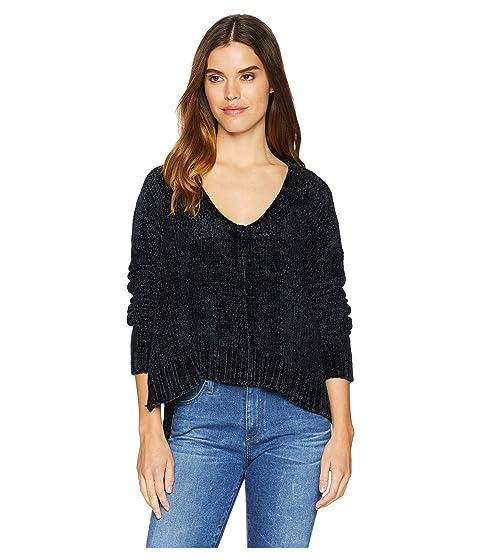 Show Me Your Mumu  Hug Me Crop Sweater, BLACK CHENILLE