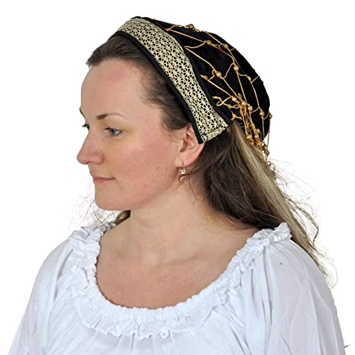 Medieval Hat - Bonnet With Trimming - Costume Accessory - Women 6c399a2758a