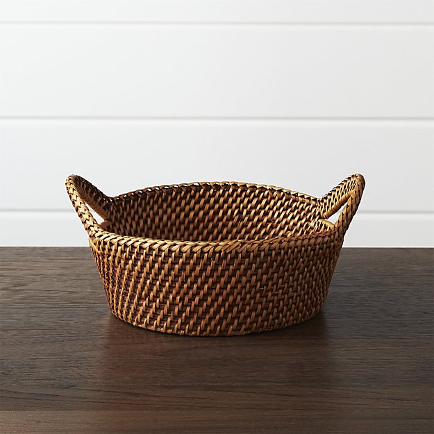 Artesia Small Honey Bread Basket | Crate and Barrel