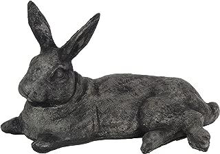 Big Laying Rabbit Home Garden Statues Concrete Yard Art