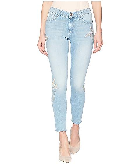 de palma tobillo con Jeans delgado Midrise Adriana Mavi bordado de palma ligero Bordado ligero 74qAzwW