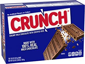 Crunch Milk Chocolate Halloween Candy Bars, Full Size Bulk Ferrero Candy for Trick or Treat Bags, 1.55 oz (36 Count)
