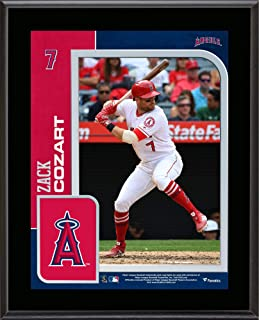 """Fanatics Authentic MLB Los Angeles Angels Zack Cozart Los Angeles Angels 10.5"""" x 13"""" Sublimated Player Plaque"""