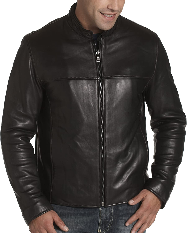 Andrew Marc Marc New York Men's Vox Lamb Banded Collar Jacket