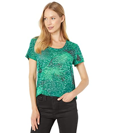 Vince Camuto Short Sleeve Scoop Neck Palm Shades Tee