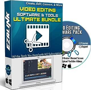 Video Creator Software Bundle DVD - Video Editing Converting Screen Recording Downloading & More for Windows 10, 8, 7 & MAC