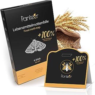 Panteer ® Voedselmottenval - 100% meer feromonen tegen voedselmotten - hogere lokwerking - mottenval levensmiddelen - 6 stuks