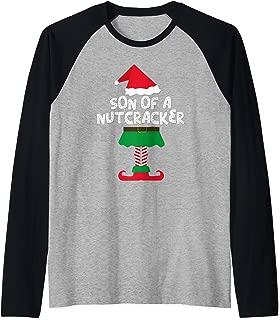 Son Of A Nutcracker Elf Matching Christmas Shirts & Pajamas Raglan Baseball Tee