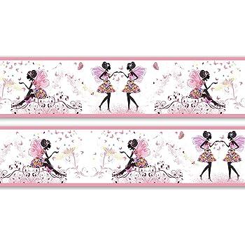 Bordüre Streifen rosa Borte Tapetenbordüre Bordüren Borde Wandborde mädchen