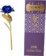 NINE10 Gold Rose 24K Gold Foil/Gold Plated Blue Rose Box