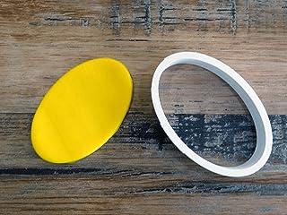 ELACE - Emporte-pièce Ovale Patisserie, sablé, Biscuit, pâte à Sucre, pâte à Modeler-Décoration gâteau-Fait Maison-FR 3D