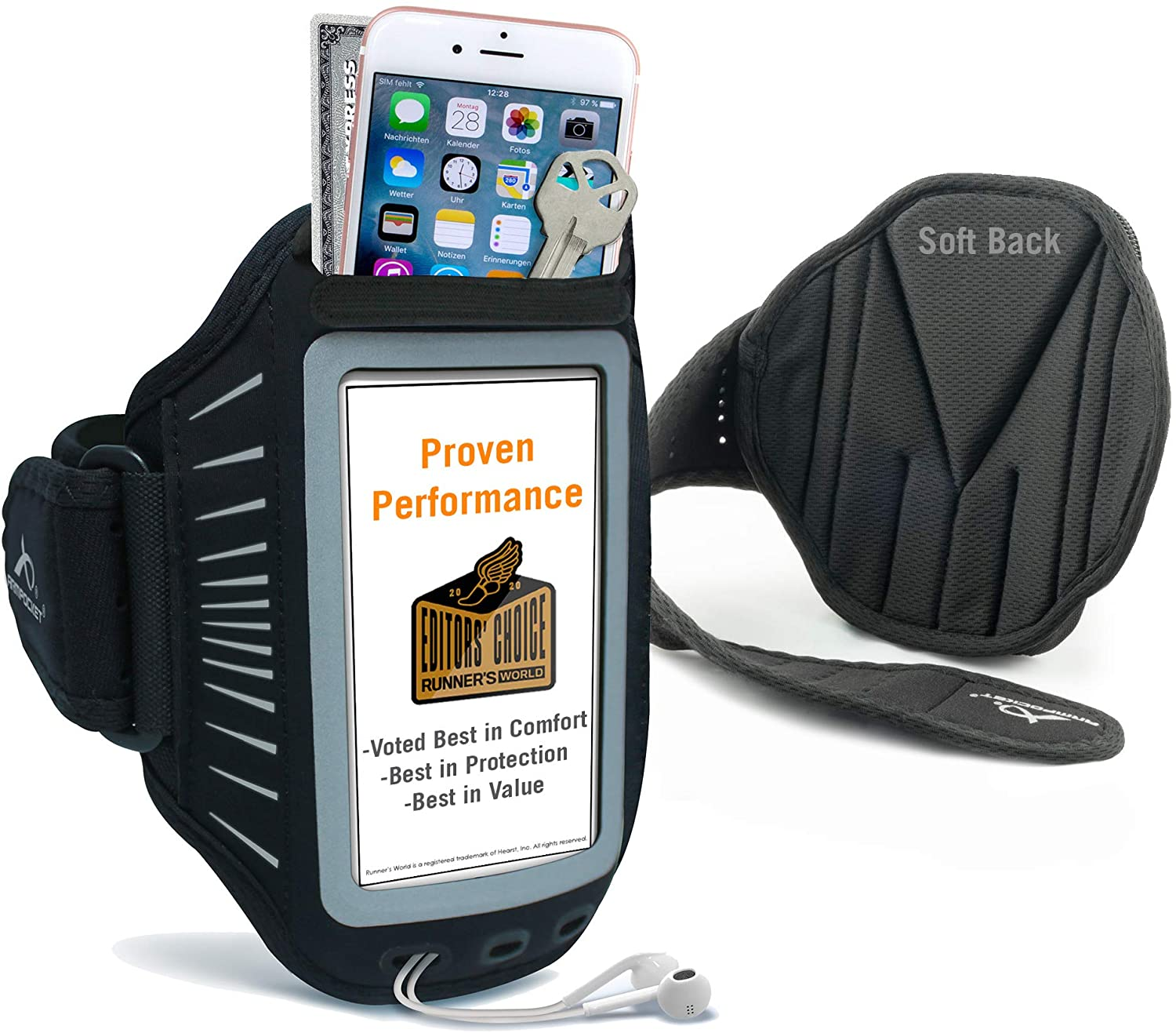 Phone 55% OFF Armbands for Running Armpocket Plus Racer safety Ultra Thin Pho