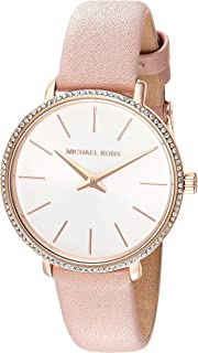 Michael Kors Women's Quartz Watch analog Display and Leather Strap, MK2803