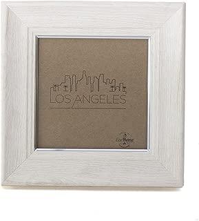 4x4 Picture Frame Ivory Silver - Mount Desktop Display, Instagram Prints Frames by EcoHome