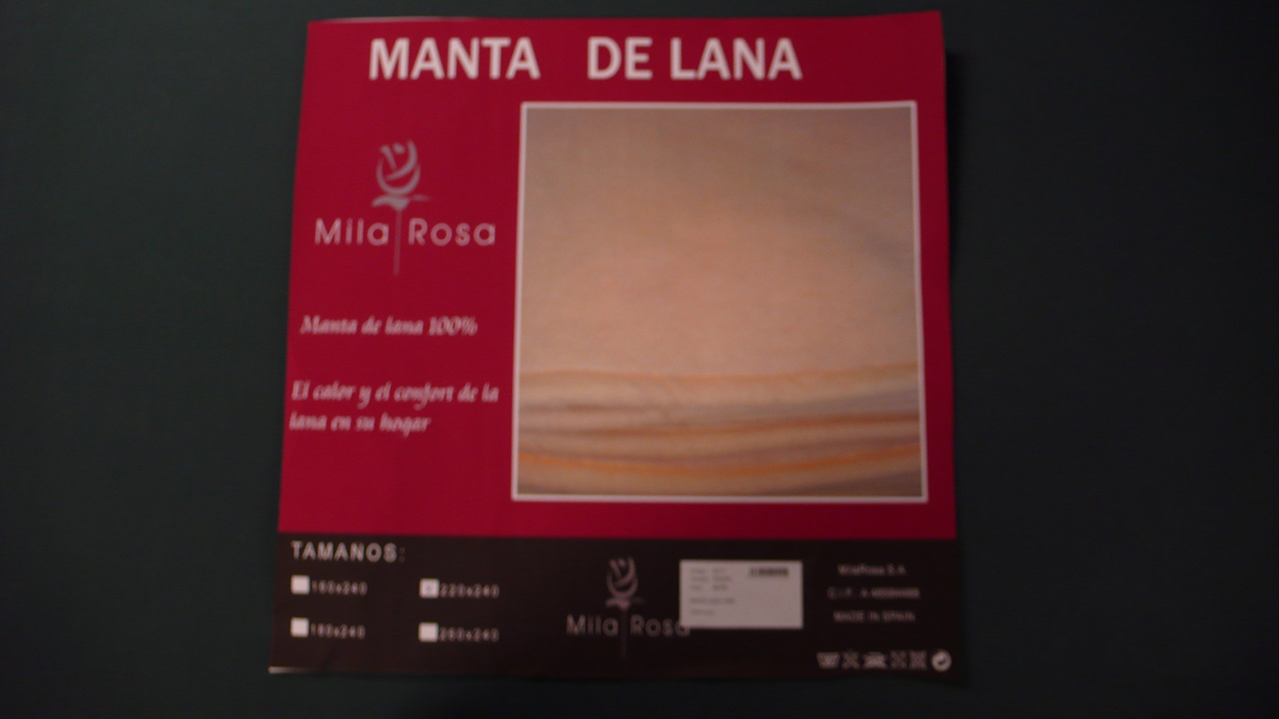 España Manta Lana Virgen 100% Todas Las Medidas (260 X 240 CM): Amazon.es: Hogar