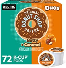 The Original Donut Shop Nutty Caramel, Single-Serve Keurig K-Cup Pods, Flavored Light Roast Coffee, 72 Count