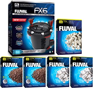 Fluval FX6 A219 Filter w/Biomax, Phosphate Remover & Pre-Filter 12mo