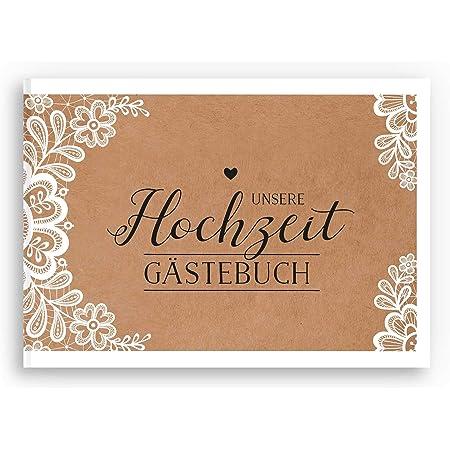 bigdaygraphix G/ästebuch Hochzeit Hochzeitsbuch mit Fragen A4 quer Holz rustikal