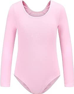 Ueiku Girls' Team Basic Long Sleeve Ballet and Gymnastics Leotards | Athletic Dancewear or Bodysuit for Toddlers