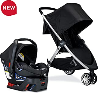 Britax USA B-Lively Travel System with B-Safe 35 Infant Car Seat, Ashton – Birth to 55 Pounds