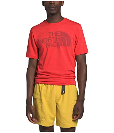 The North Face Short Sleeve Half Dome Tri-Blend Tee (Fiery Red Heather) Men