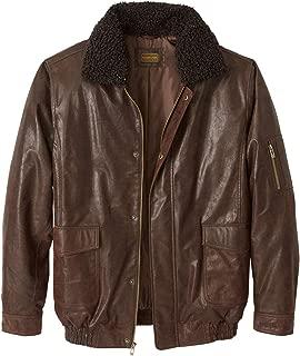 KingSize Men's Big & Tall Leather Flight Bomber Jacket