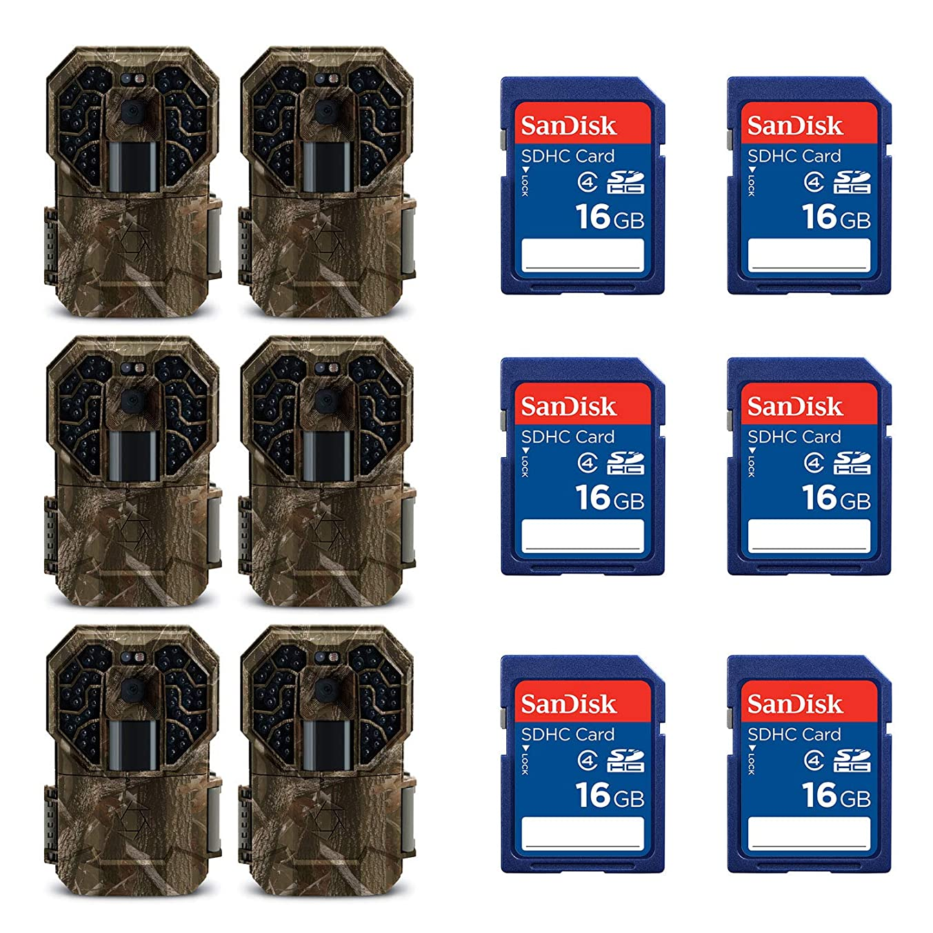 Stealth Cam Pro Infrared Game Camera (6 Pack) + 16GB SD Memory Card (6 Pack)